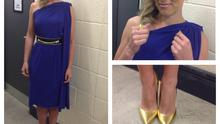 Kathryn Thomas in dress at The Voice of Ireland
