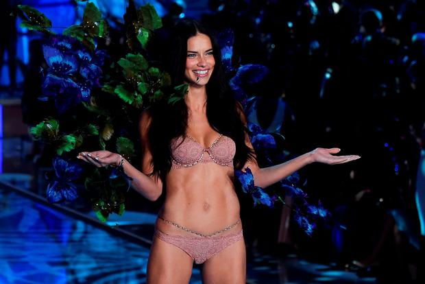 Model and Victoria's Secret Angel Adriana Lima presents a creation during the 2015 Victoria's Secret Fashion Show in New York