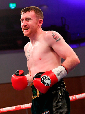 Barnes' impressed with superior footwork and shot selection in all six frames of a relatively tame affair against the durable journeyman in his first six-round bout. Photo by Ramsey Cardy/Sportsfile