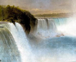 Niagara Falls from the American Side 1867, Oil on Canvas by Frederic Edwin Church [1826-1900], National Gallery of Scotland
