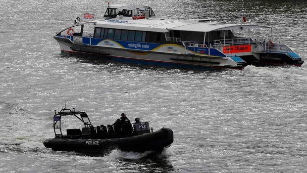 Police rescued Ms Cristea from the river and she is now in a serious condition in hospital. Photo: REUTERS/Darren Staples