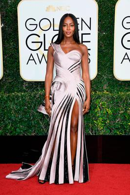 Model/Actress Naomi Campbell attends the 74th Annual Golden Globe Awards at The Beverly Hilton Hotel on January 8, 2017 in Beverly Hills, California.  (Photo by Frazer Harrison/Getty Images)