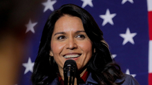 Military veteran: Ms Gabbard fought with Hillary Clinton during her bid for the presidency. Photo: Reuters