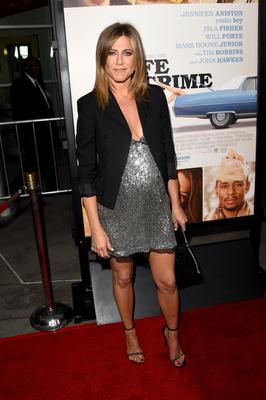 "Actress Jennifer Aniston attends the premiere of Lionsgate and Roadside Attractions' ""Life of Crime"" at ArcLight Cinemas on August 27, 2014 in Hollywood, California.  (Photo by Jason Merritt/Getty Images)"