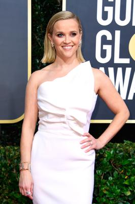 US actress Reese Witherspoon arrives for the 77th annual Golden Globe Awards on January 5, 2020, at The Beverly Hilton hotel in Beverly Hills, California. (Photo by VALERIE MACON / AFP)