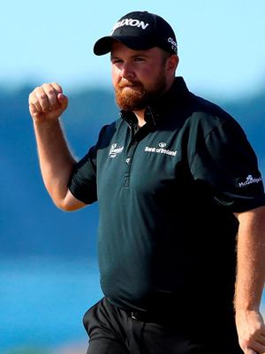 UNIVERSITY PLACE, WA - JUNE 20:  Shane Lowry of Ireland reacts after making a putt for par on the 17th hole during the third round of the 115th U.S. Open Championship at Chambers Bay on June 20, 2015 in University Place, Washington.  (Photo by Andrew Redington/Getty Images)
