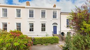 Three-storey dream: The exterior of the house at Tivoli Terrace East in Dun Laoghaire which is one of the oldest homes in the area