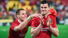 Jonathan Sexton with British & Irish Lions team-mate Liam Williams