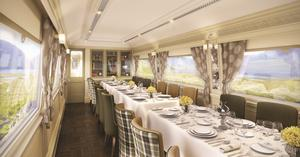 Belmond Grand Hibernian's                   'Wexford' dining car.