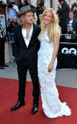 Dougie Poynter and Ellie Goulding attend the GQ Men of the Year awards at The Royal Opera House on September 2, 2014 in London, England.  (Photo by Anthony Harvey/Getty Images)