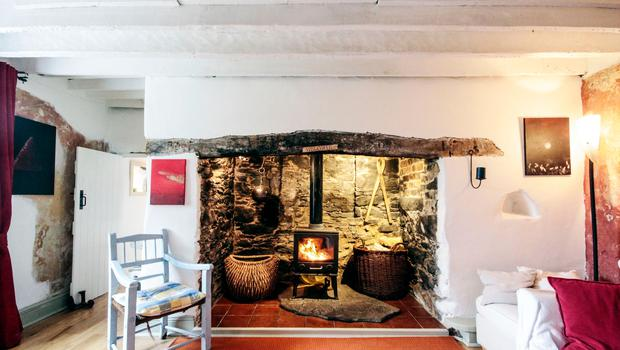 Philip and Delphine Geoghegan's farmhouse: the sitting room