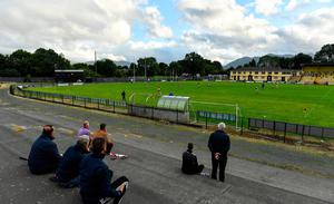 Supporters look on during the Kerry County Senior Club Football Championship Group 2 Round 1 match between Kilcummin and Killarney Legion at Lewis Road in Killarney