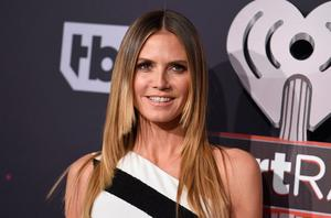 Heidi Klum arrives at the iHeartRadio Music Awards at the Forum on Sunday, March 5, 2017, in Inglewood, Calif. (Photo by Jordan Strauss/Invision/AP)