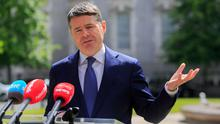 Questioned: Finance Minister Paschal Donohoe was grilled by TDs on LPT rules. Photo: Gareth Chaney, Collins