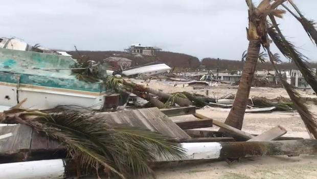 Debris and damage in the aftermath of Hurricane Dorian is seen in Hope Town, Elbow Cay, Abaco Islands, Bahamas September 3, 2019, in this still image obtained from social media video. Video taken September 3, 2019. LEA CHARLES /via REUTERS      THIS IMAGE HAS BEEN SUPPLIED BY A THIRD PARTY. MANDATORY CREDIT. NO RESALES. NO ARCHIVES.