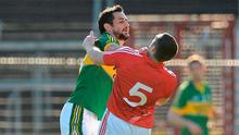 Kerry's Paul Gavlin grapples with Cork's Noel O'Leary during a league game at Páirc Uí Chaoimh in 2012. Photo: Stephen McCarthy/SPORTSFILE