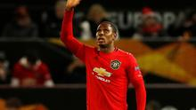 Manchester United's Odion Ighalo celebrates scoring their second goal