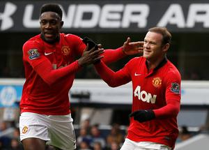 Manchester United's Wayne Rooney and Danny Welbeck
