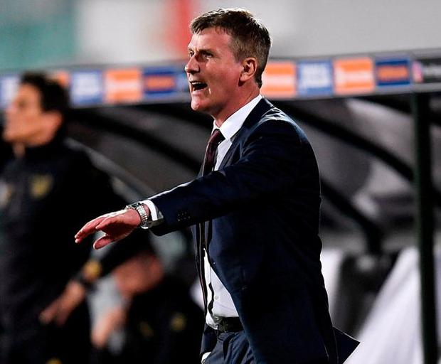 Republic of Ireland manager Stephen Kenny during the Nations League match against Bulgaria in Sofia. Photo: Sportsfile