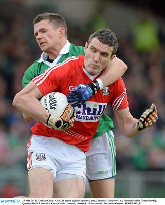 Cork's Graham Canty in action against Andrew Lane