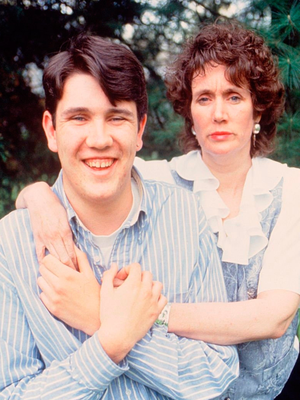 Annie with her son Peter in 1996