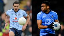 Craig Dias in action for Dublin back in 2012 and in last Saturday's Allianz League clash with Donegal