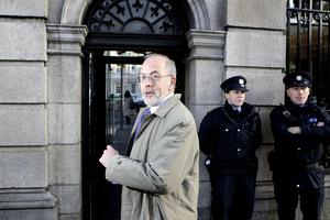 Central Bank Governor Patrick Honohan on his way into the Dail on Wednesday November 10, 2010