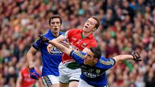 Kerry pair Declan O'Sullivan and David Moran battle for possession with Donal Vaughan of Mayo during this year's All-Ireland semi-final. Photo: Ray McManus / SPORTSFILE