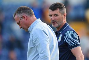 Aston Villa manager Paul Lambet says claims Roy Keane was at war with Gabby Agbonlahor and Fabian Delph were inaccurate. Photo: Michael Regan/Getty Images