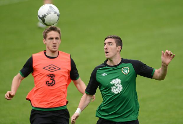 Kevin Doyle (left) and Stephen Ward (right) are both facing an anxious wait to find out if they can leave Wolves before the end of the transfer window. David Maher / SPORTSFILE