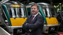 High hopes: Jim Meade, Irish Rail CEO, at Connolly Station, Dublin. Photo: Kyran O'Brien