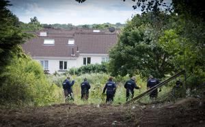 Gardaí searching a site in Chapelizod in 2017 as part of the Trevor Deely investigation. Photo: Fergal Phillips