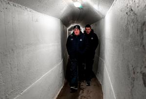 TUNNEL VISION: Dublin manager Tom Gray and selector Ciarán Farrelly on their way to the pitch for the EirGrid Leinster U20 FC final between Laois and Dublin at Netwatch Cullen Park. Photo: Matt Browne/Sportsfile