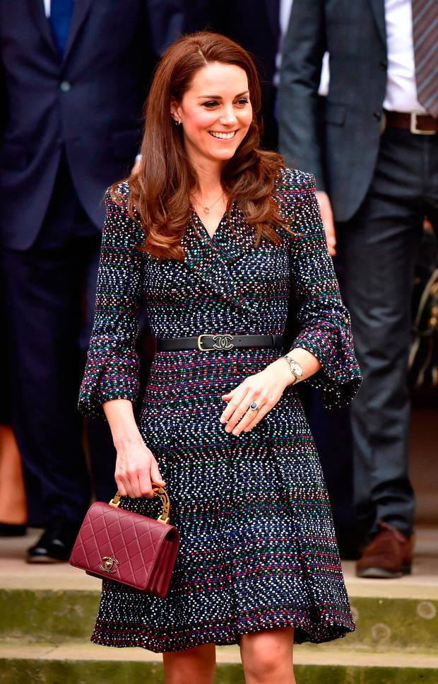 The Duchess of Cambridge at Les Invalides after she met a number of victims and first responders from the Bataclan and Nice attacks and also heard more about the important historic and current role of the site, in particular its work supporting veterans and its rehabilitation programmes