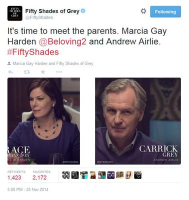 Marcia Gay Harden and Andrew Airlie in Fifty Shades of Grey