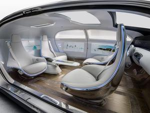 Mercedes-Benz F 015  Luxury in Motion vehicle which raises comfort and luxury to a new level by offering a maximum of space and a lounge character on the inside