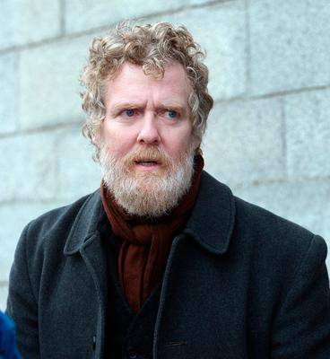 Glen Hansard at the funeral of former Pogues manager Frank Murray in St Paul's Church, Mount Argus. Photo: Tony Gavin