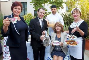 Joan Burton TD and Minister for Rural Development Ann Phelan TD pictured with Savour Kilkenny Food Festivals committee members Ian Brennan, Club House Hotel, chef Anne Neary, Ryeland Cookery School and Ormonde Hotels executive chef Mark Gaffney at the Festival Programme launch for the 8th Savour Kilkenny Food Festival