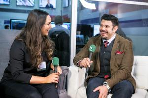 Adam Richman at the Web Summit in The RDS during an Interview with Independent.ie's Caitlin McBride