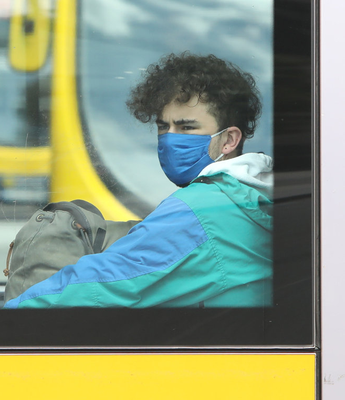 All passengers on all public transport must wear a face-mask