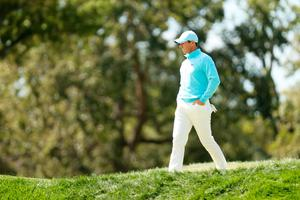 Rory McIlroy walks the first hole during the final round of the 120th U.S. Open Championship at Winged Foot Golf Club in Mamaroneck, New York. (Photo by Gregory Shamus/Getty Images)