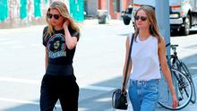 Model Stella Maxwell walks with her girlfriend in New York City on June 21, 2016. Picture: Christopher Peterson/Splash News