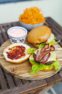 Kevin Dundon's beef burgers. Photo Kyle Tunney