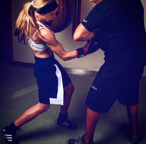 Salley has been preparing for her fight at London five-star private members club KX Gym