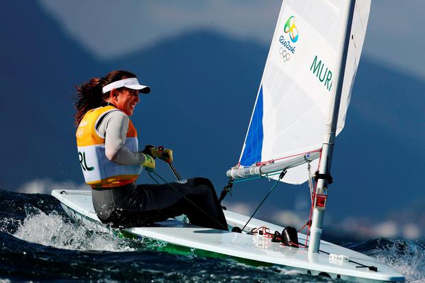 Annalise Murphy has qualified for the medals race tomorrow by finishing 7th in her final leg last night. (Photo by Clive Mason/Getty Images)