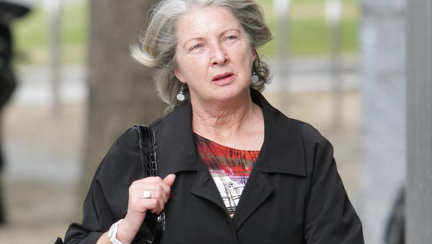 Former Anglo Irish Bank official Aoife Maguire at Dublin Circuit Criminal Court yesterday