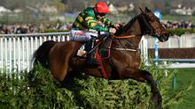 CHELTENHAM, UNITED KINGDOM - MARCH 15: Causes for Causes ridden by Mr J.J. Codd jump the last to win the Glenfarclas Steeple Chase during Ladies Day of the Cheltenham Festival at Cheltenham Racecourse on March 15, 2017 in Cheltenham, England. (Photo by Harry Trump/Getty Images)