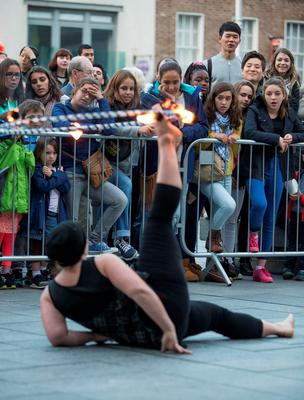 Niv performer with Dublin Circus Project on Culture Night 2015 and comprises with hundreds of events across Ireland and overseas.  Picture by Fergal Phillips