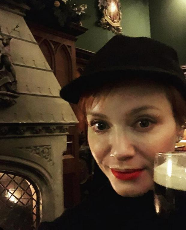 Christina Hendricks on holiday in Ireland. Picture: Instagram
