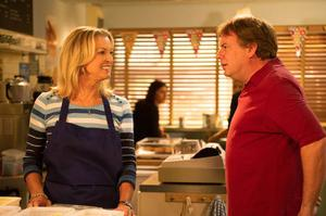 Ian Beale speaks to his late mum Kathy in the cafe in Eastenders Pic: BBC